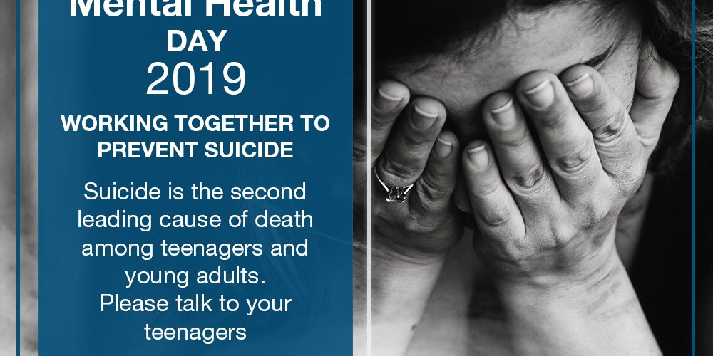 World Mental Health Day 2019: Suicide Prevention